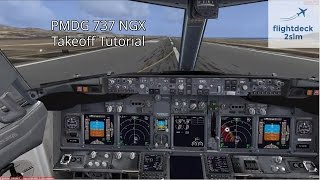 PMDG 737 NGX - REAL BOEING PILOT - Takeoff Tutorial