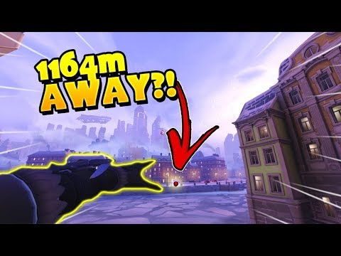 INSANE Ana Grenade from 1164M Away?!? - Overwatch Lucky Moments