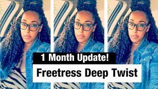 Freetress Deep Twist - ONE Month UPDATE! + Tips/Tricks