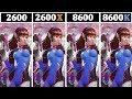 Ryzen 2600 vs I5 8600 vs Ryzen 2600X vs I5 8600K   Tested 15 Games  