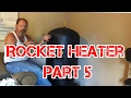 Rocket Heater Wood Stove Installation Part 5 (The First Burn Indoors)