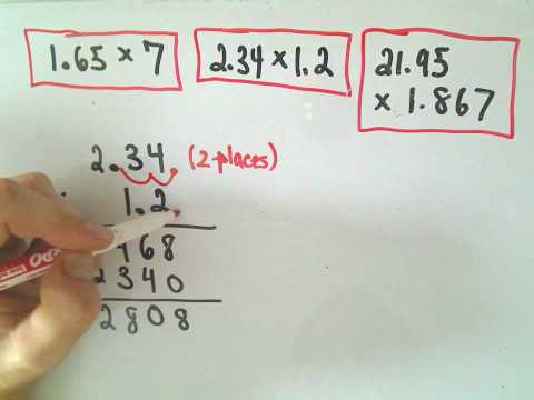 Arithmetic Basics: Multiplying Decimals