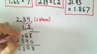 Arithmetic Basics: Multiplying Decimals