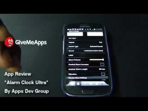 Alarm Clock Ultra Android App Review Samsung Galaxy S3