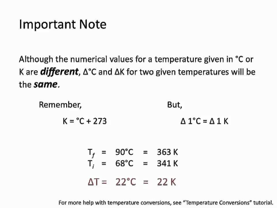 Heat Capacity And Specific Heat Chemistry Tutorial Youtube