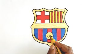 How to Draw the FC Barcelona Logo