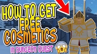 HOW TO GET FREE COSMETICS IN DUNGEON QUEST!! (Roblox)