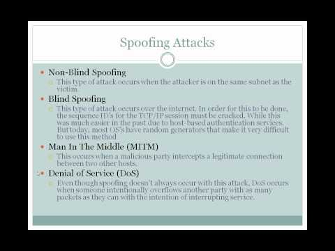Spoofing (or forging) IP identities - by Tony Kendrick.avi