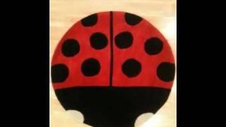 Childrens ladybird rug 80cm x 80cm