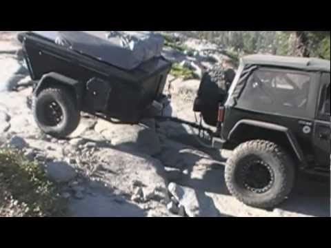 Off Road Trailer on Rubicon Trail with Jeep JK 2012
