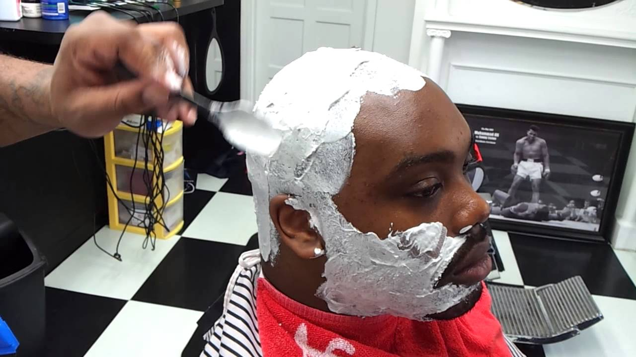 Barber And Shave Shoppe : Supreme Service Barber Shop. Magic shave on head - YouTube