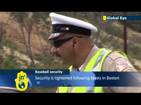 Boston Marathon terror attack: security tightened ahead of LA Dodgers game