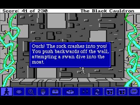 Let's Play The Black Cauldron: Point And Click Part 18 - Wall Climbing video