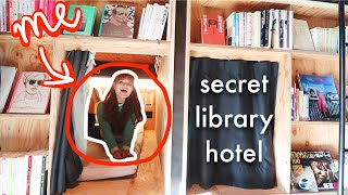 I slept in a LIBRARY capsule hotel in Tokyo (TOUR!)