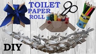 10 DIY Toilet paper roll crafts - recycle - HOW TO!