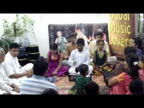 Rakshak group singing vishnu ghanam dubai 1jan2013.mp4