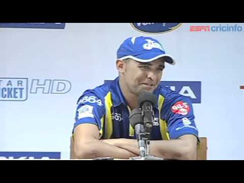 Robin Peterson - Press Conference, Mumbai Indians v Cape Cobra