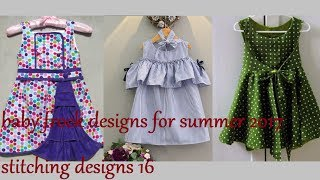 baby frock designs for summer 2017, stitching designs 16