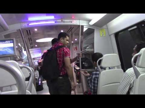 PAUL HODGE: 2013 SOLO AROUND WORLD IN 24 DAYS, DELHI AIRPORT METRO EXPRESS, Ch 56, SoloAroundWorld