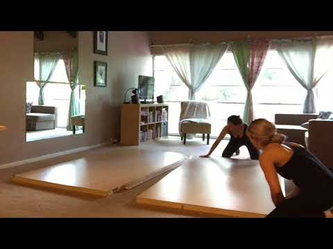 Home Pole Studios Portable Floating Removable Pole Dance Floor Install Assembly
