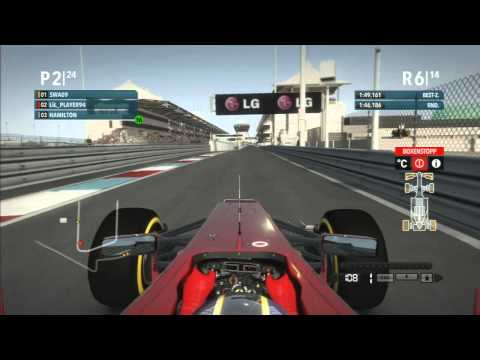 Lets Play Formel 1 2012 Co Op  Part 39 Abu Dhabi Rennen (German)