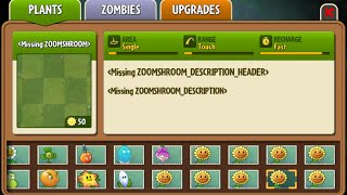 Zoom-shroom - Scrapped Dark Ages Plant - Plants Vs. Zombies 2: It