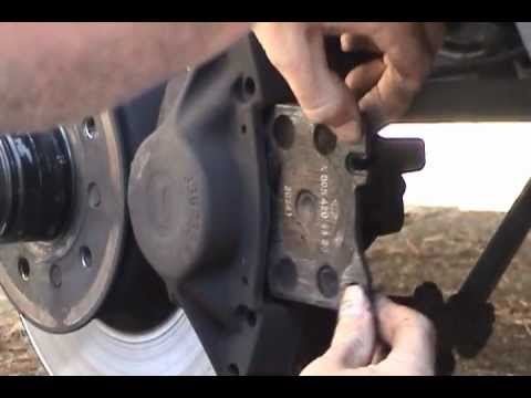 1991 mercedes benz 420 sel brake pad replacement youtube for Brake pads mercedes benz
