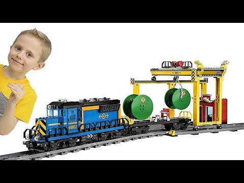 МАШИНКИ для Мальчиков и Поезд Лего Сити на радиоуправлении - Крутой трек для детей и Железная дорога