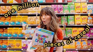 eating 1 million pieces of cereal for 1 million subscribers