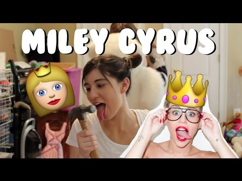Miley Cyrus Mash Up Over The Years Music Video || Savannah Simpson