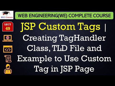 JSP Custom Tags | Creating TagHandler Class, TLD File and Example to Use Custom Tag in JSP Page