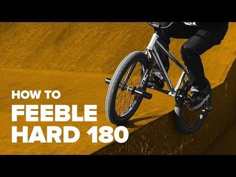 Как сделать фибл хард 180 на BMX (How to Feeble Hard 180 on BMX)