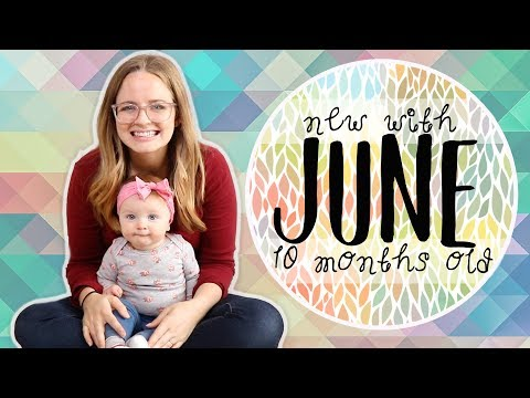 CUTE BABY BLOWING KISSES! 10 Month Update | New with June