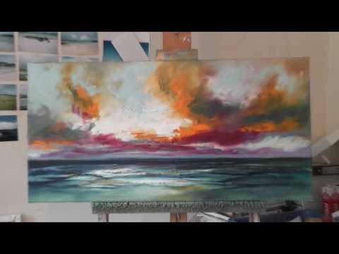 Speed Painting: Landscape Painting Demo-  Ocean Blue