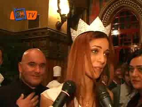 Miss Italia 2008 Miriam Leone subito dopo l'elezione