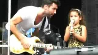 Maroon 5 Irvine, CA - Adam Levine (w/sister) at Soundcheck