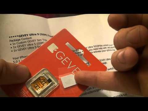 Unboxing Gevey Card (MicroSim) Para Unlock o desbloquear iPhone 4S