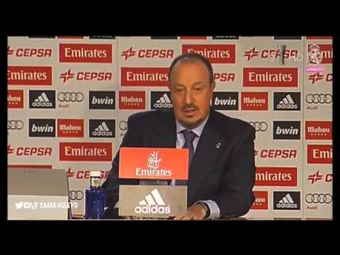 Rueda de prensa de Rafa Benítez como entrenador del Real Madrid.