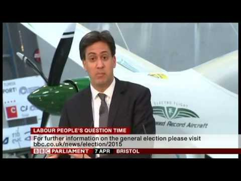 Ed Miliband - People's Question Time, Bristol, 7th April 2015