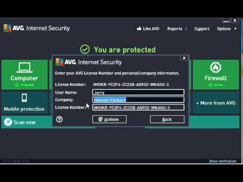 How to re-activate your AVG with new license number
