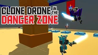 Spike Traps and Jump Pads - Clone Drone in the Danger Zone Alpha Gameplay - Funny Moments