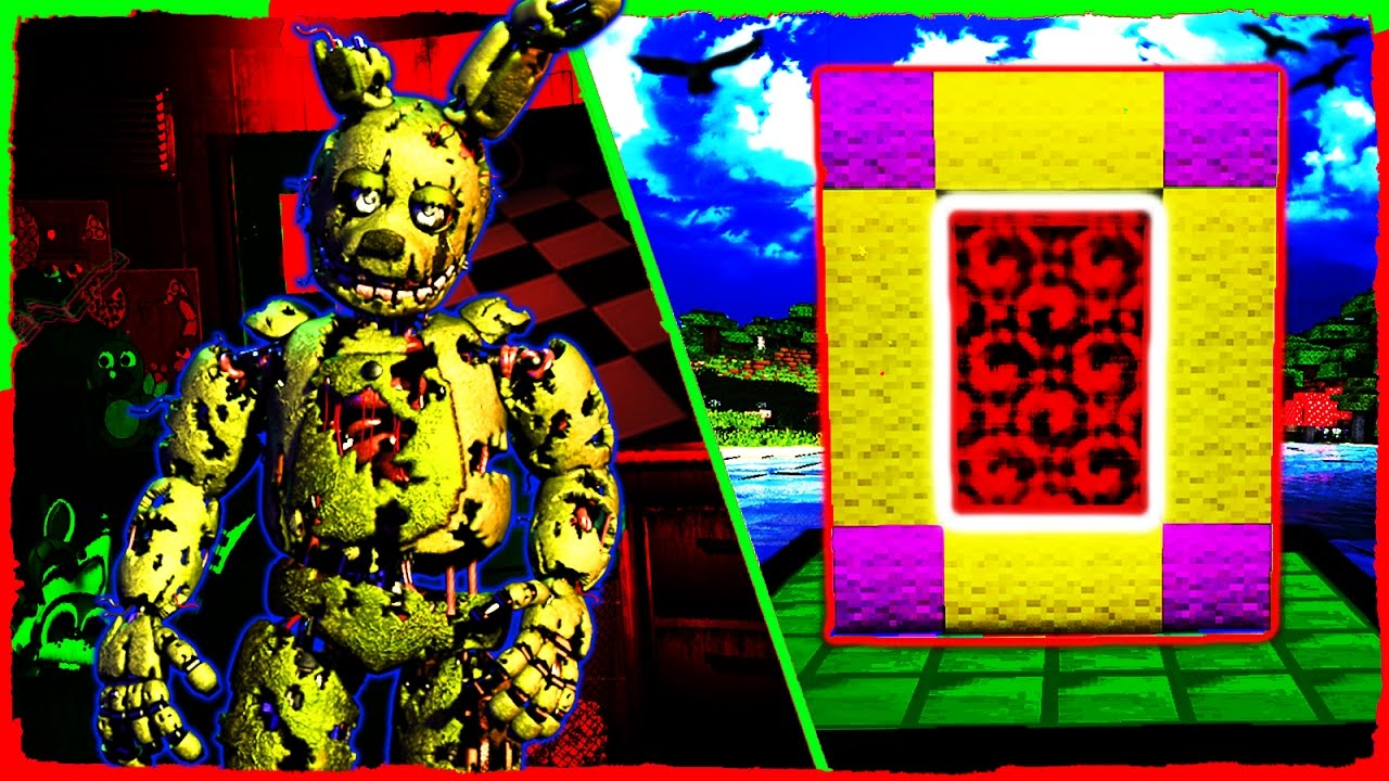 Minecraft FNAF 3 - How to Make a Portal to FIVE NIGHTS AT FREDDY'S 3