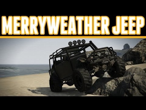 Grand Theft Auto 5 Online : How to get the Merryweather Jeep Location Online (Mesa Jeep)