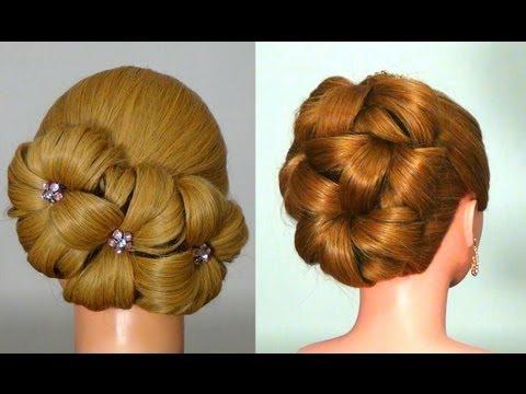 Прическа для длинных волос на Новый Год! Hairstyle for New Year