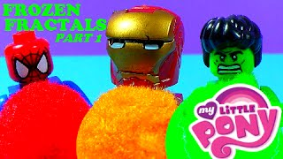 FROZEN FRACTAL LEGOS – Spiderman Iron Man Hulk My Little Pony – Play Doh story PART 1