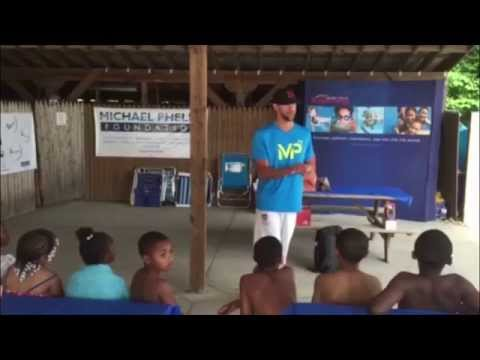 Michael Phelps Promotes Water Safety
