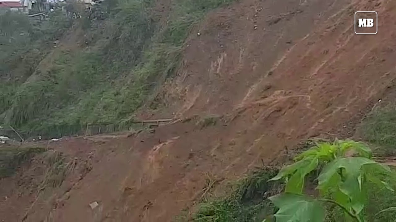 Search and retrieval operations at a landslide area in Benguet