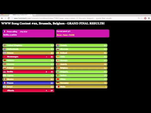 Www Song Contest #22 - Grand Final Results video
