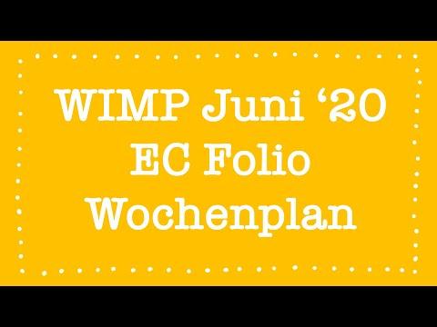 WimP - Juni 2020 - Wochenplan | EC Folio | Deutsch
