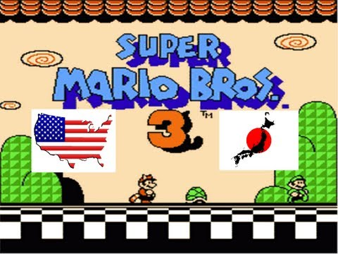 Super Mario Bros 3 English VS Japanese Comparison (USA Vs Japan) on the NES & Famicom Game Console
